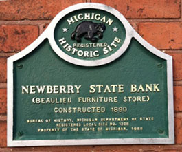 Newberry state bank sign